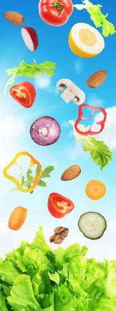Salad background Stock Photo
