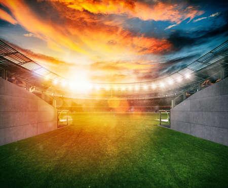 Bereit, das Feld für das Spiel zu betreten