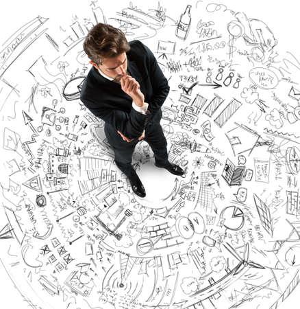 Projets de pensée d'homme d'affaires