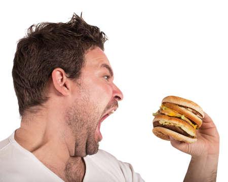 Głodny człowiek Zdjęcie Seryjne