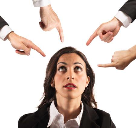 Businesswoman blamed unfairly Zdjęcie Seryjne