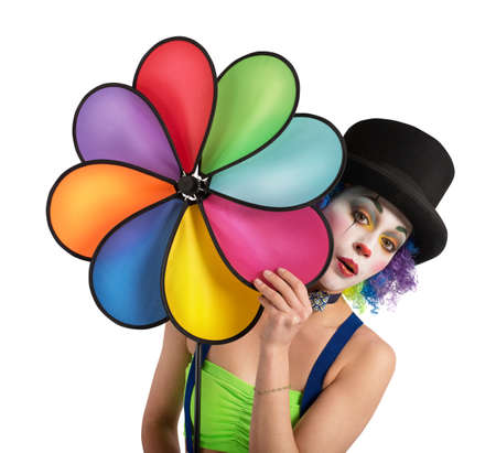 Clown with helix