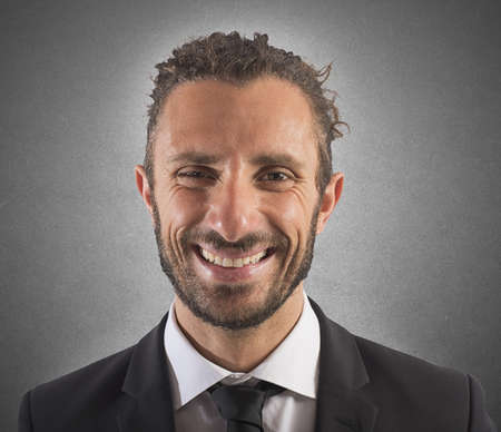Smiling expression businessman