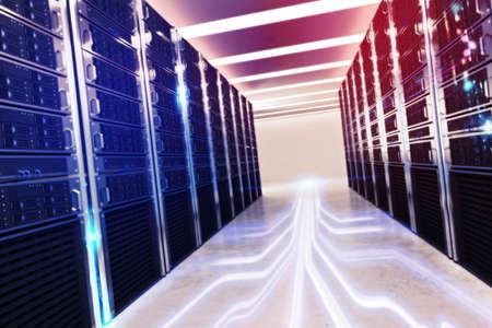 Sala de base de datos virtual Foto de archivo