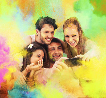 Colorful party photo