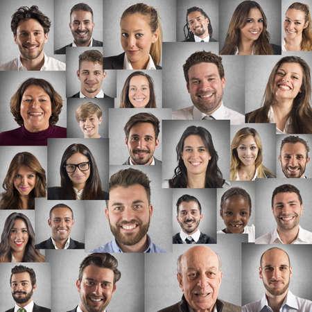Lächeln Collage Standard-Bild
