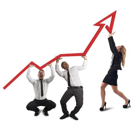Business-Team unterstützt Unternehmen