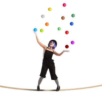 Clown difficult balance