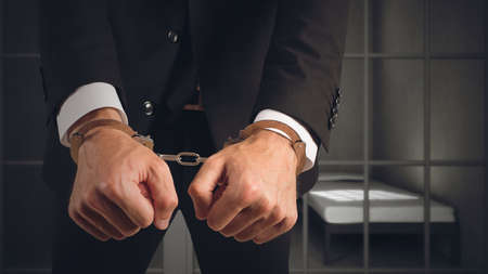 Businessman arrested Stock Photo