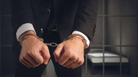 Businessman arrested Stock Photo - 126485053