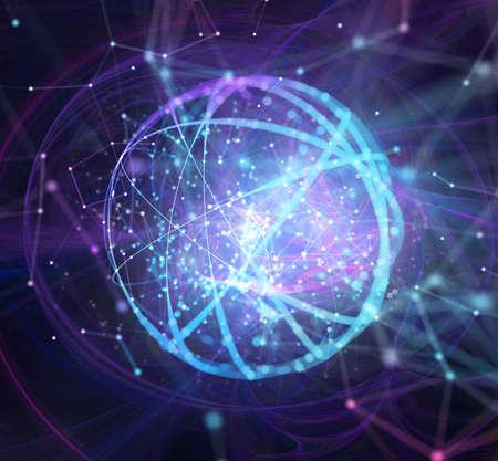 Réseau de connexion internet abstrait avec effets de mouvement.