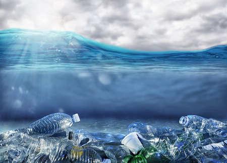 Problème de pollution plastique sous la mer