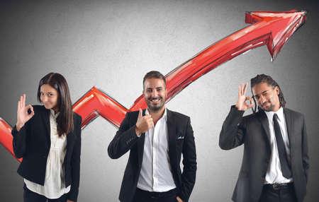 Financial profits of Businessperson Reklamní fotografie