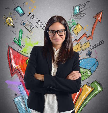 Stats businesswoman
