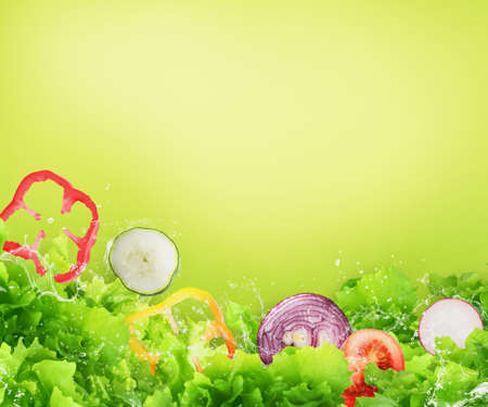 Fresh salad. Healthy food for wellness concept Stock Photo - 128603204