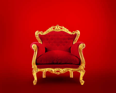 Red and gold luxury armchair. Concept of success Stock fotó
