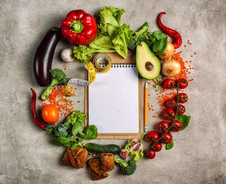 Healthy  of vegetable. Concept of genuine food Archivio Fotografico
