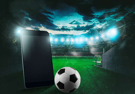 Watch a live sports event on your mobile device