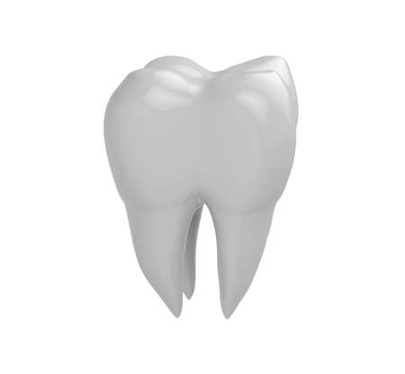 Isolated clean molar tooth on white background. 3D Rendering Standard-Bild