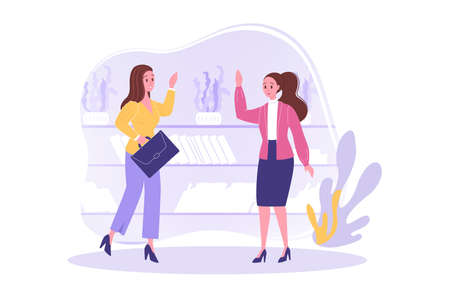 Friendship, greeting, meeting, business concept