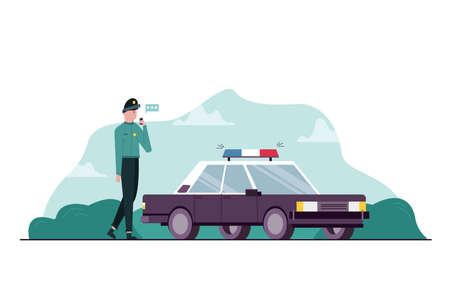 Work, danger, security, police, communication concept