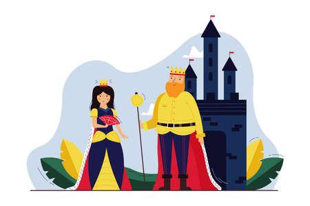 History, monarchy, cosplay, dramatization concept