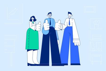 Teamwork, success, collaboration concept