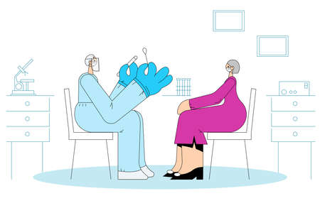 Healthcare and medical testing during COVID-19 outbreak concept Vektorové ilustrace