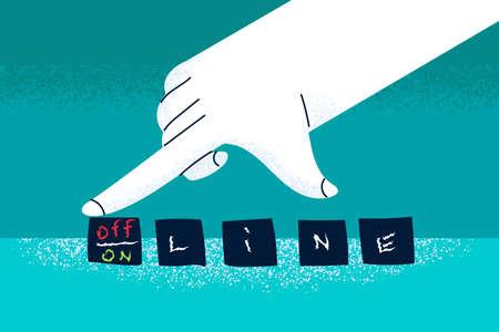 Online and offline concept