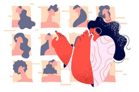 Beauty, fashion and online technologies concept Ilustración de vector