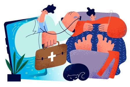 Healthcare, telehealth, medicine online concept