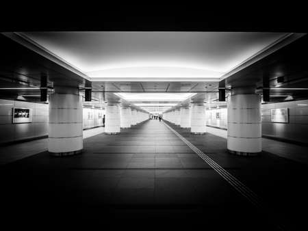 inception: Passage near subway under Tokyo city Stock Photo