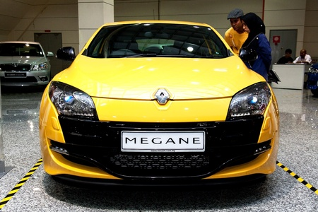 Kuala Lumpur, Malaysia - November 12, 2011 - Renault Megane RS were displayed at the Car Of The Year Autoshow 2011.
