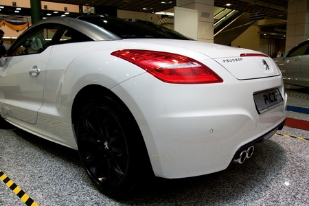 Kuala Lumpur, Malaysia - November 12, 2011- Peugeot RCZ were displayed at the Car Of The Year Autoshow 2011. Editorial