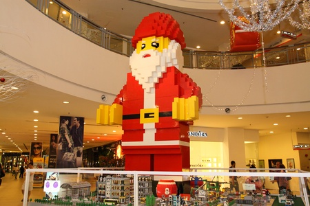 KUALA LUMPUR, MALAYSIA - NOVEMBER 25 - Giant Santa Claus statue on display at the LEGO Exhibition on NOVEMBER 25, 2011 in Kuala Lumpur, Malaysia Editorial