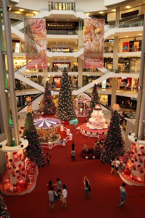 KUALA LUMPUR, MALAYSIA - DECEMBER 10 - Decoration of Christmas for year 2011 in Pavilion Shopping Mall on DECEMBER 10, 2011 in Kuala Lumpur, Malaysia. Pavilion Kuala Lumpur is a premier shopping mall located in the heart of Kuala Lumpur Golden Triangle