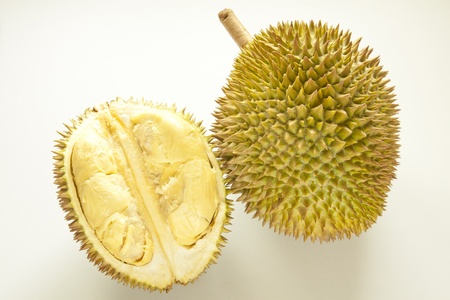 Durian (Durio zibethinus) is a tropical fruit native to Borneo, Indonesia and Malaysia - durian is considered the king of tropical fruit