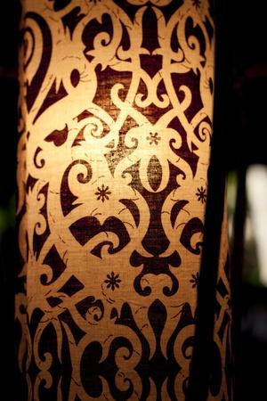 stock photo traditional iban pattern on lantern sarawak borneo island - Iban Muster