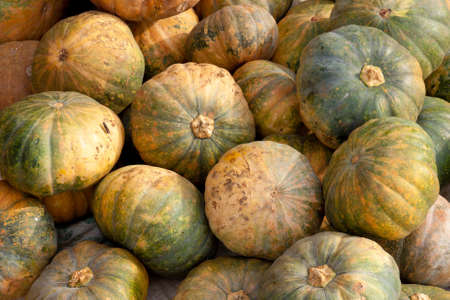 Pumpkins for sale at local market in Sarawak, East Malaysia Stock Photo
