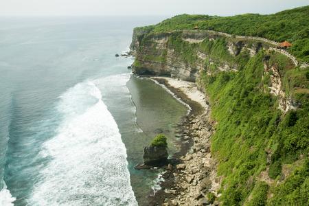 Pura Luhur Ulu Watu Temple, Bali, Indonesia  West coast of Bali Island meets Hindi Ocean