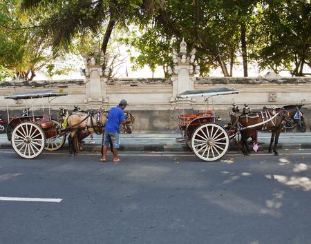 kuta: Horse cart service in Kuta, Bali