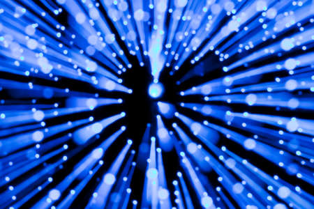 Blue lights blur zoom abstract background