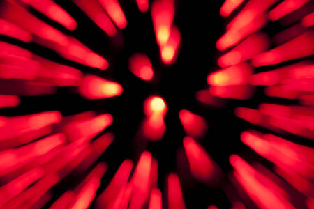 Red lights blur zoom abstract background Stock Photo