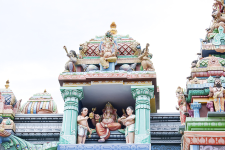 Statue of Hindu Gods and Deities in Sri Aruloli Thirumurugan Hindu Temple Penang, Malaysia