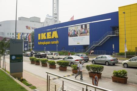 KUALA LUMPUR, MALAYSIA - JULY 26: IKEA Kuala Lumpur Store on July 26, 2014 in Kuala Lumpur, Malaysia. It is the worlds largest furniture retailer. Established in 1943 by Ingvar Kamprad Editorial