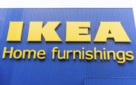 KUALA LUMPUR, MALAYSIA - JULY 26: IKEA signboard at IKEA Kuala Lumpur Store on July 26, 2014 in Kuala Lumpur, Malaysia. It is the worlds largest furniture retailer. Established in 1943 by Ingvar Kamprad Editorial