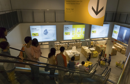KUALA LUMPUR, MALAYSIA - JULY 26: People shop at IKEA Kuala Lumpur Store on July 26, 2014 in Kuala Lumpur, Malaysia. It is the worlds largest furniture retailer. Established in 1943 by Ingvar Kamprad