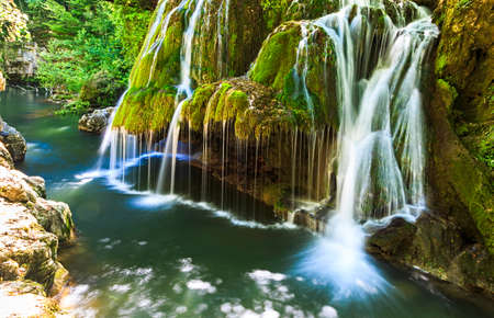 Spectacular Bigar waterfall in summer in Romania
