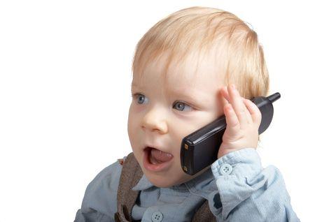 speaks: One-year boy speaks by phone