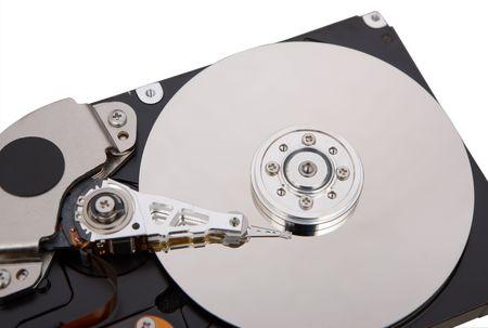 hard disc isolated on white background photo